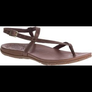 Dark Brown Leather Chaco Sandals